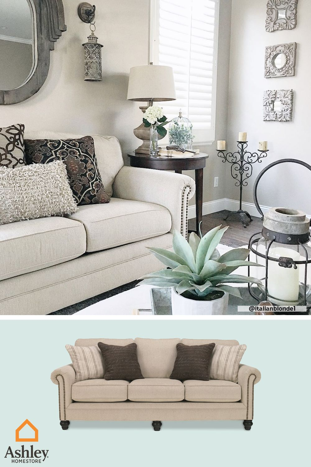Neutral Decor Doesn T Have To Be Bland Ashley Furniture Living Room Living Room Decor Neutral Furniture #neutral #decor #living #room