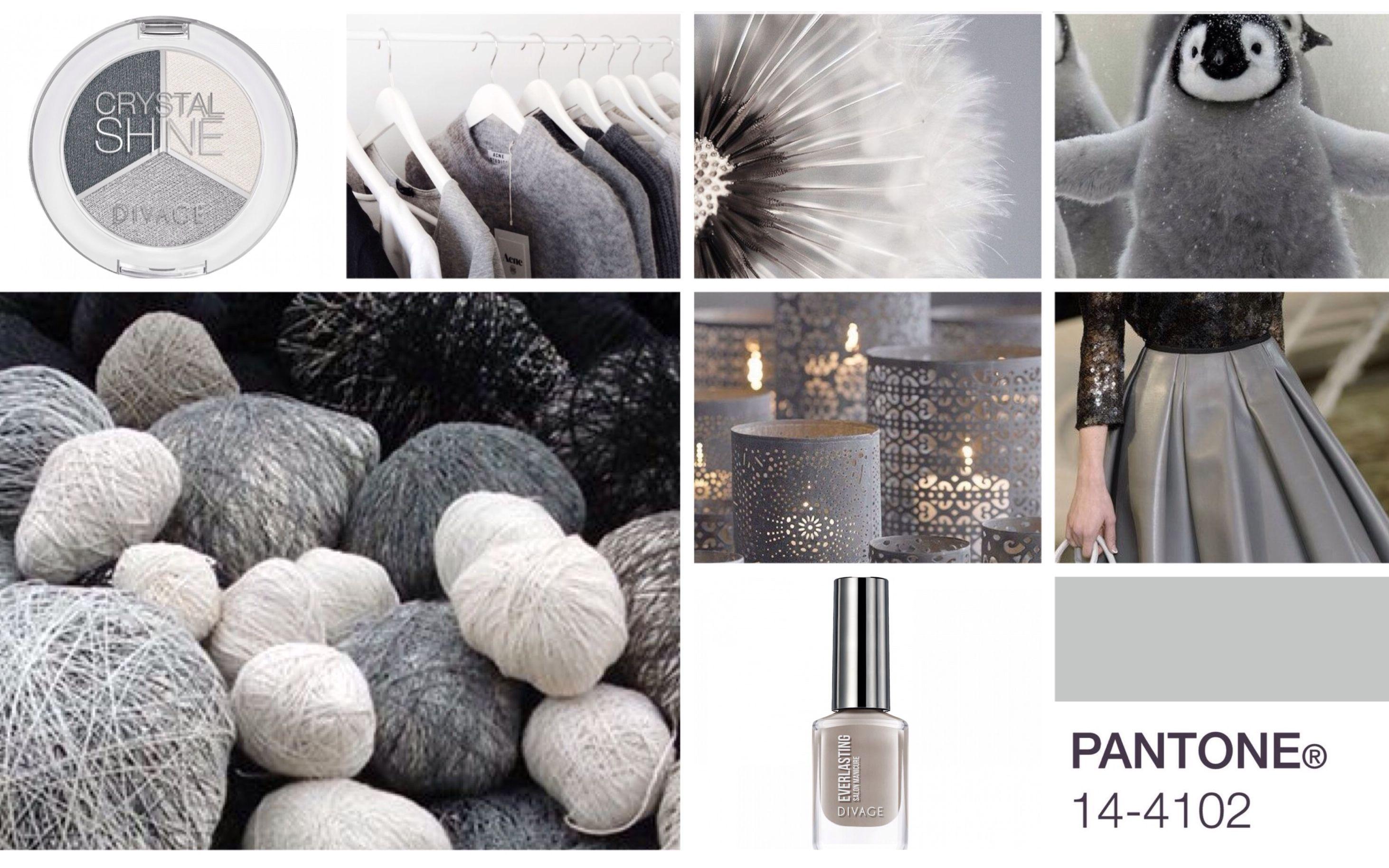 #coloroftheweek   Pantone 14 - 4102 Gracier Gray è un color grigio ghiaccio facile da abbinare con qualsiasi nuance.  Colorate le vostre unghie di questa bellissima tonalità di grigio con Everlasting di Divage per dare un tocco romantico e chic al vostro look.