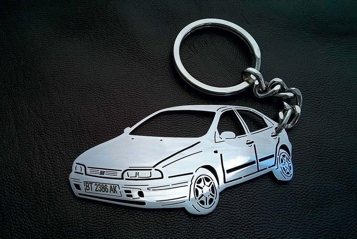 Mother's day, Fiat Brava keychain, Personalized Key Chain