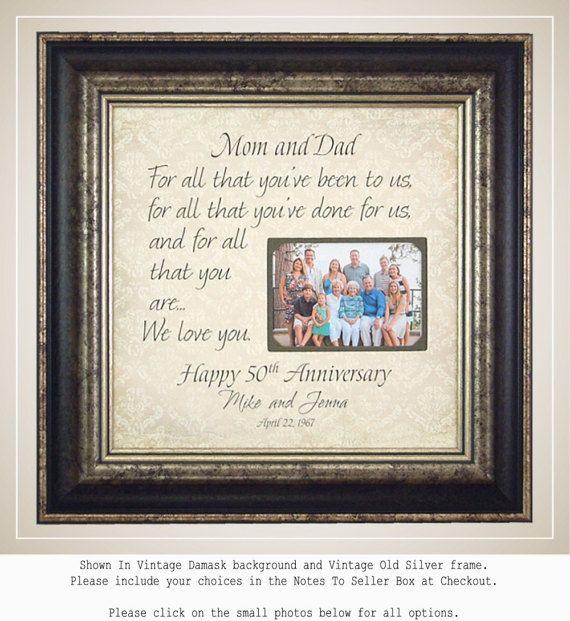 Parents Anniversary Gift, 50th Anniversary Gifts, Anniversary Photo ...