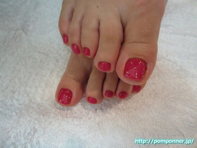 Asian red sexy toes — 15