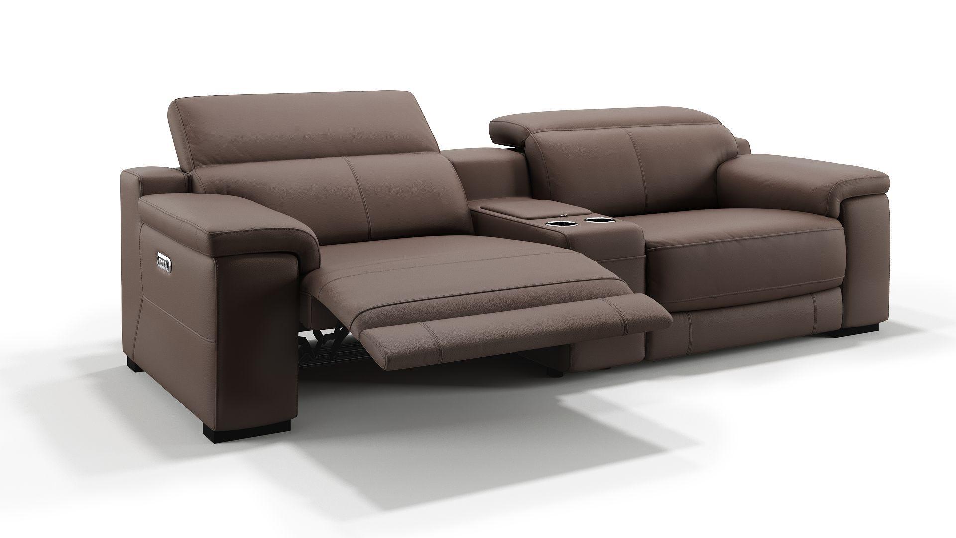 Details Elektrische Relaxfunktion Per Knopfdruck An Beiden Sitzen Elektrisch Nbsp Getrennt Verstellbare Kopflehnen Sofa In 2 Gr Ledersofa Heimkino Couch Sofa