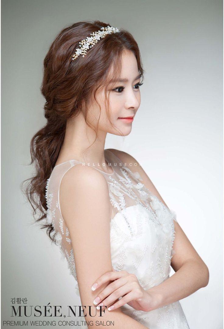 korean bridal hairstyle, korean wedding hairstyle, wedding