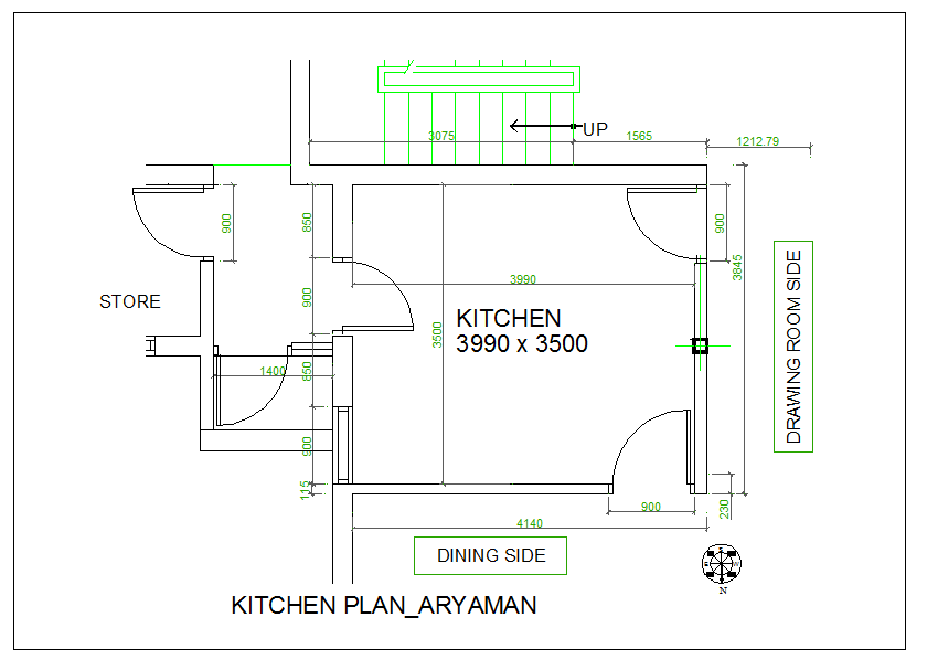 Kitchen Plan View Design With Dimension Detail Dwg File Cadbull Kitchen Plans Small Kitchen Design Layout Kitchen Design Gallery