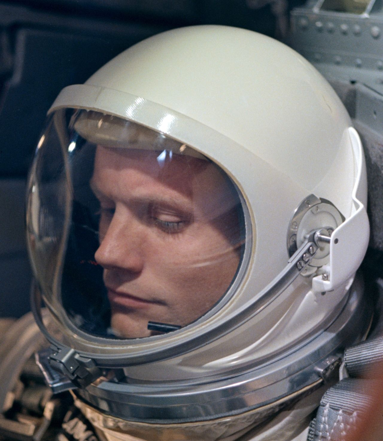 Astronaut Neil Armstrong in his Gemini days, 1966