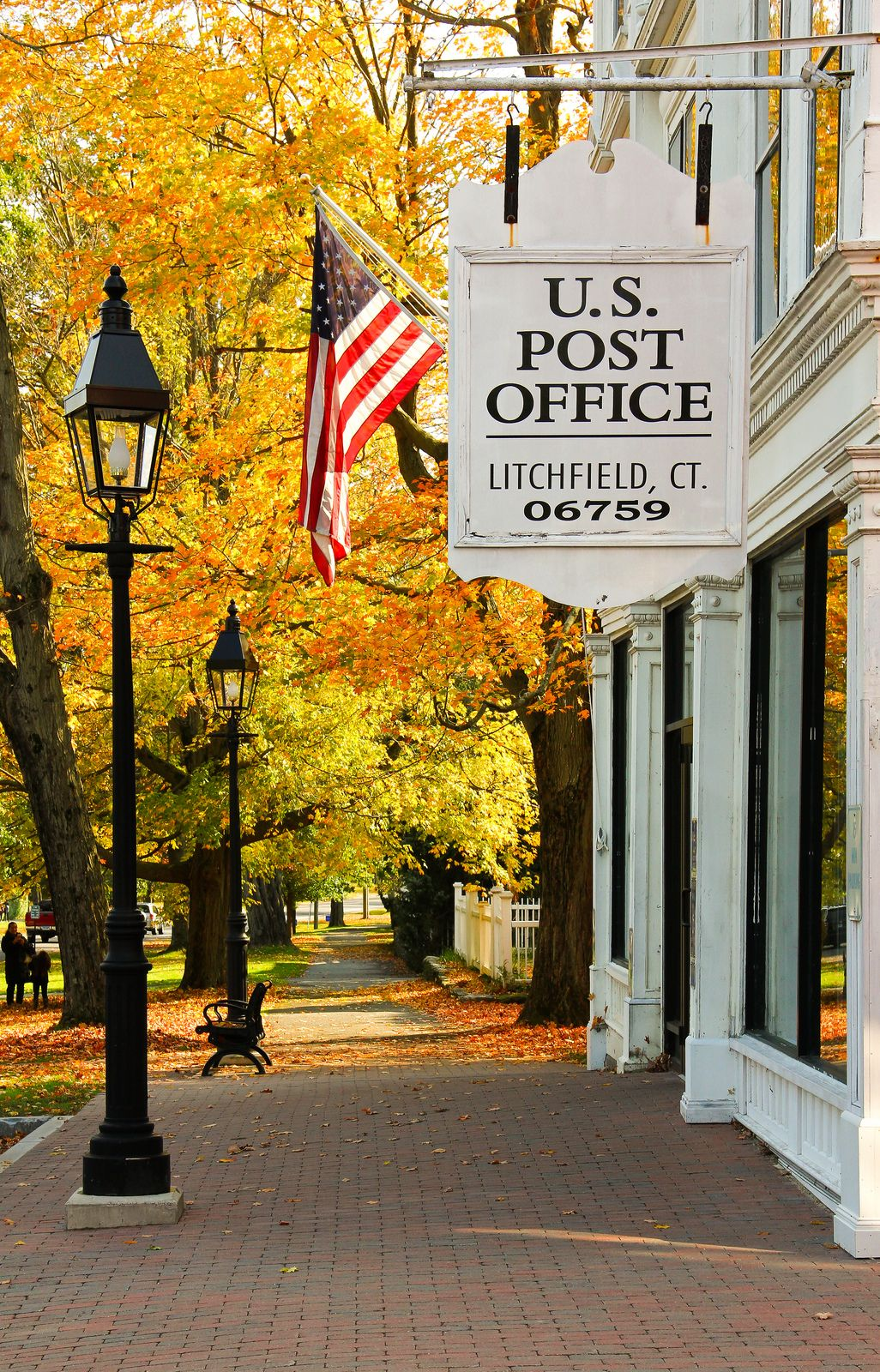 Us Post Office Litchfield Ct In 2020 New England Fall New