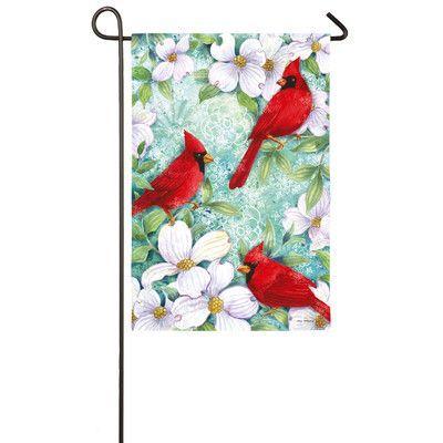 Evergreen Enterprises, Inc Cardinals and Dogwood Garden Flag