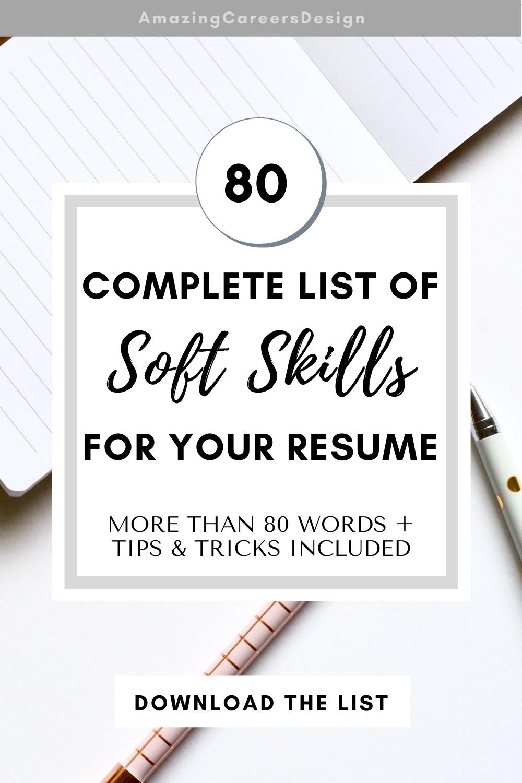 Soft Skills Resume Tips Soft Skills Based Resume Examples For Resume Skill List Printable Best Guide For Skills On Resume How To Write In 2021 Resume Skills List Resume Skills Resume Tips