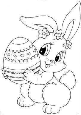 Top 15 Free Printable Easter Bunny Coloring Pages Online Fargelegging Paskekort Papirdukker