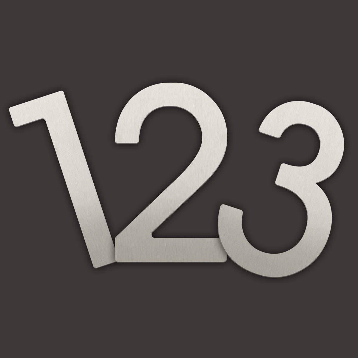 Moderne Hausnummern Edelstahl moderne design hausnummer aus hochwertigem edelstahl die