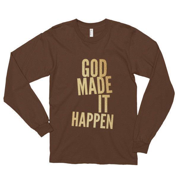 God Made it Happen Long sleeve T-shirt (unisex)