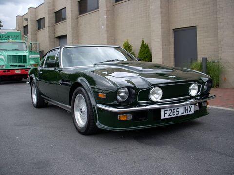 aston martin v8 vantage 1980. 1980\u0027s austin martin v8 vantage in british racing green - plates but a us version aston 1980
