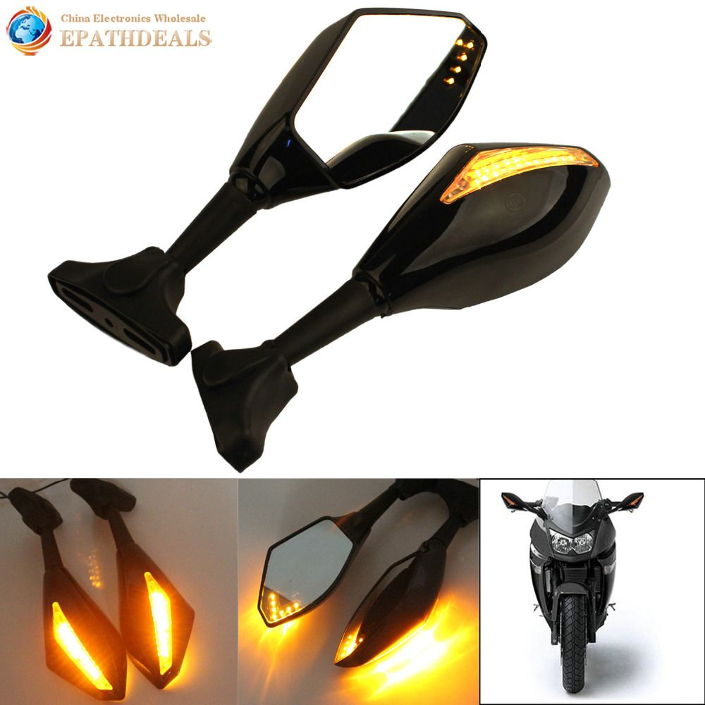 Best Price Motorcycle Rear View Side Mirror Led Turn Signals Sport