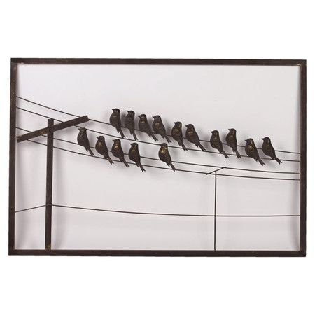 Birds On A Wire Wall Decor Bird Wall Decor Wall Decor Metal Wall Hangings