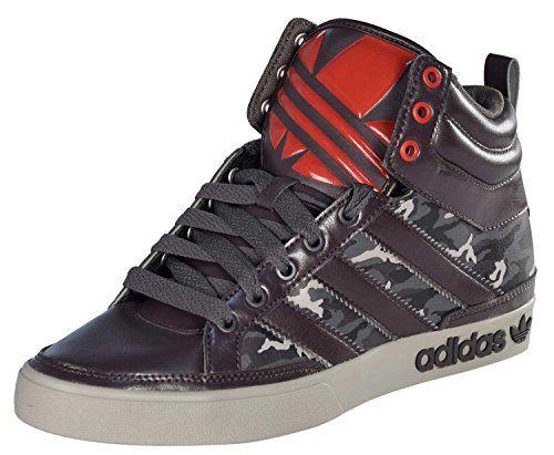 adidas Top Court Hi Big Stripes Mens Dark BrownCamo Hi