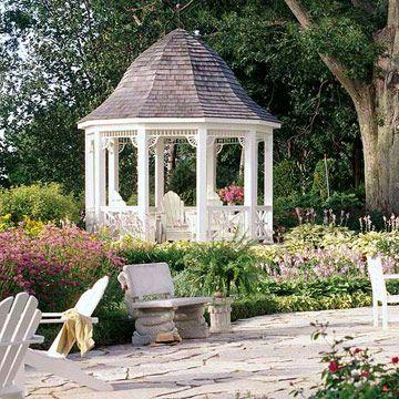 gartenpavillon wei glockendach adirondack st hle landscaping gartenh user und lauben. Black Bedroom Furniture Sets. Home Design Ideas