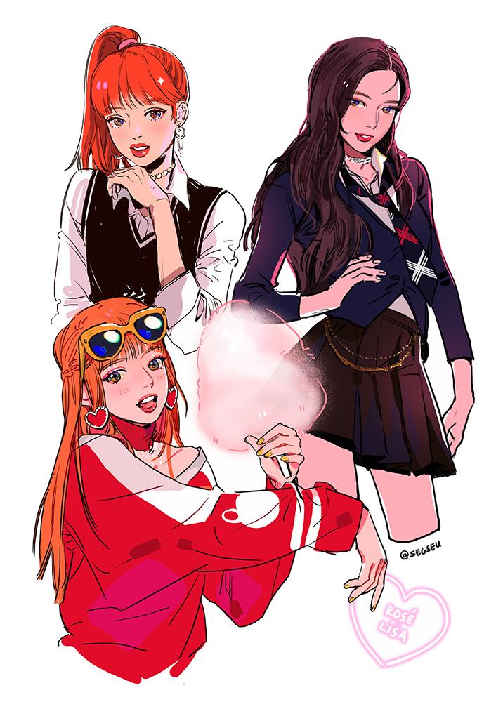 Fan art of Lisa (리사) and Rosé (로제) of BLΛƆKPIИK (블랙핑크