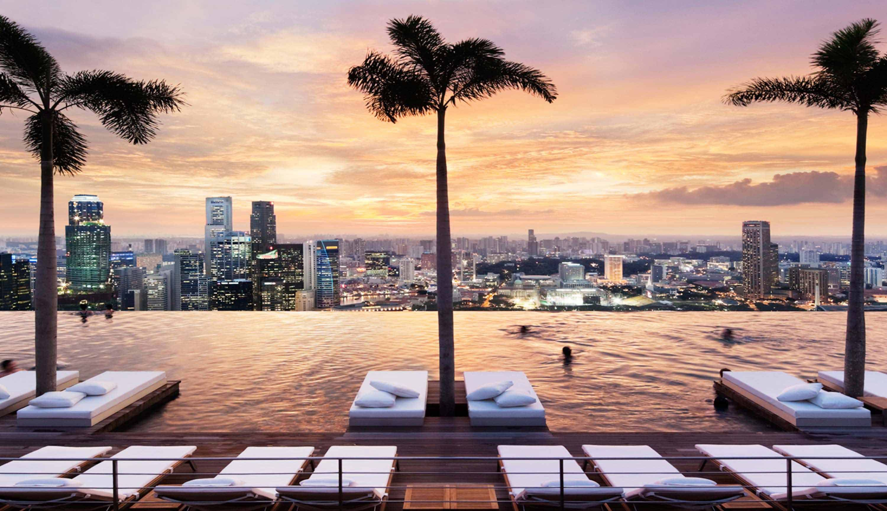 Marina Bay Sands Skypark Infinity Pool Singapore Sands Hotel Singapore Cool Swimming Pools Rooftop Pool