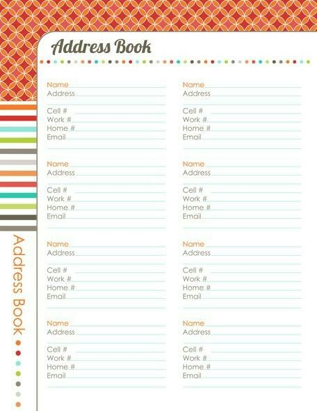 Pin By Armantha Barlow On The Happy Planner Address Book