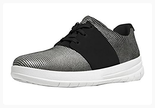 FitFlop Women's Sporty-Pop X Lizard-Print Sneakers Black 09 & Sunscreen (*