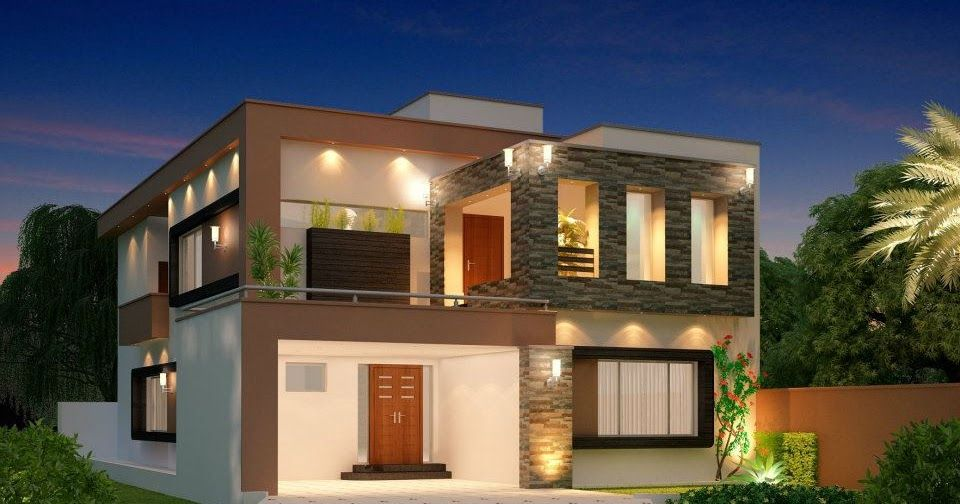 1 Kanal Modern Home Design 3d Front Elevation Lahore Pakistan Design Dimentia 10 Marla House For