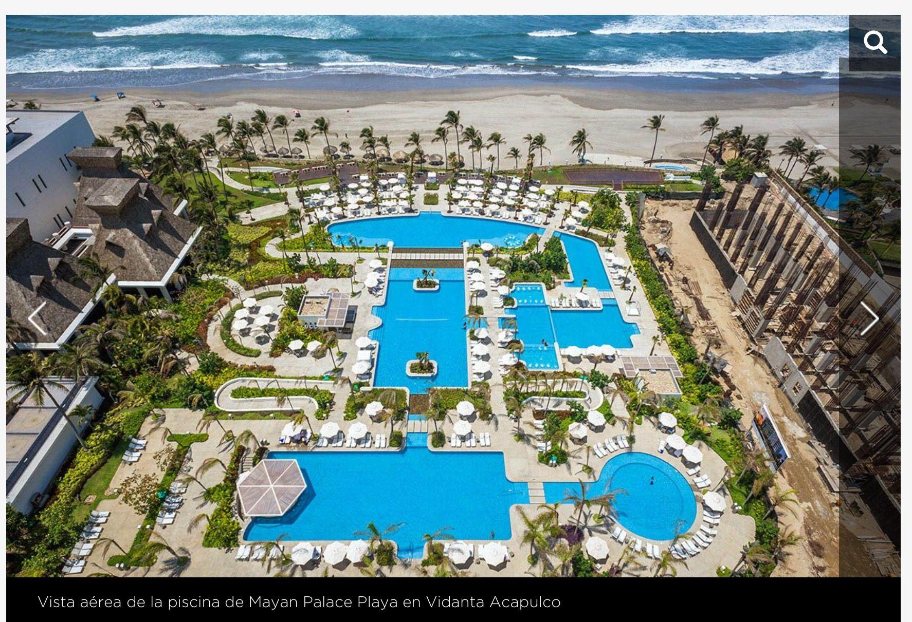 The beautiful Playa tower pool at Mayan Palace resort at Vidanta