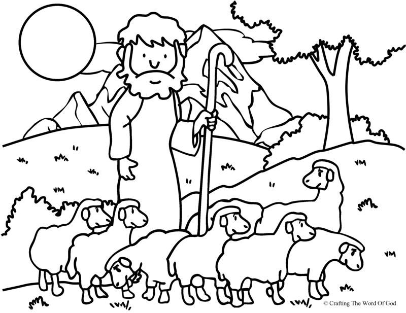 the good shepherd (the lost sheep) coloring page  sunday