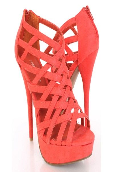 Pin on Coral \u0026 Peach Shoes