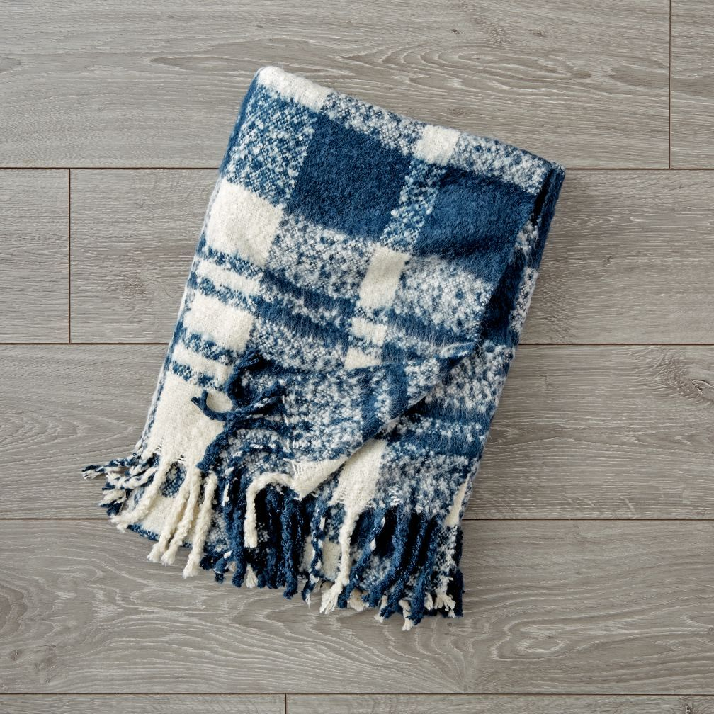 Plaid Fringe Blanket Reviews Crate And Barrel The