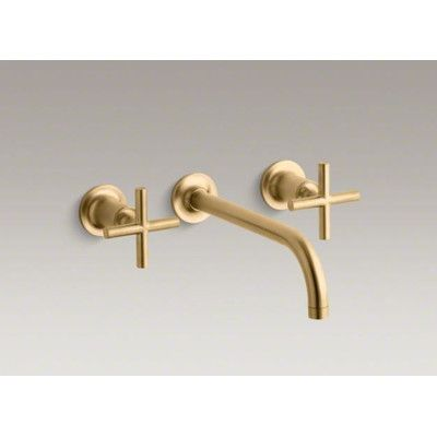 Kohler Purist Wall Mounted Bathroom Faucet with Double Cross Handles - Mitigeur Mural Salle De Bain