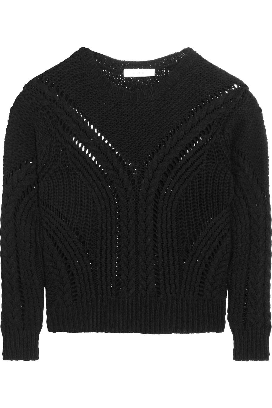 Shop on-sale IRO Cable-knit cotton-blend sweater. | //OUTFIT ...