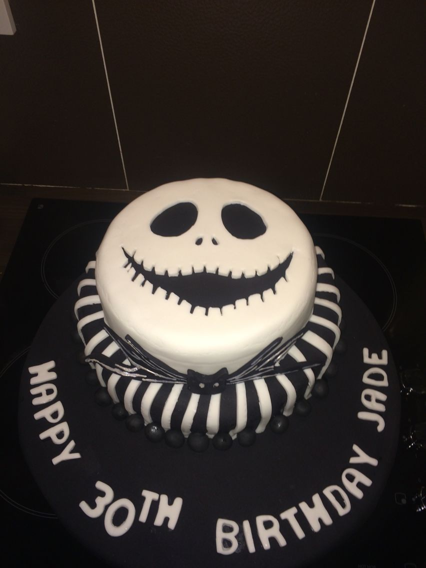 Jack Skellington Birthday Cake A chocolate biscuit two tier cake I