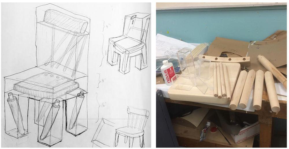 Exploded Chair by Joyce Lin ARTNAU