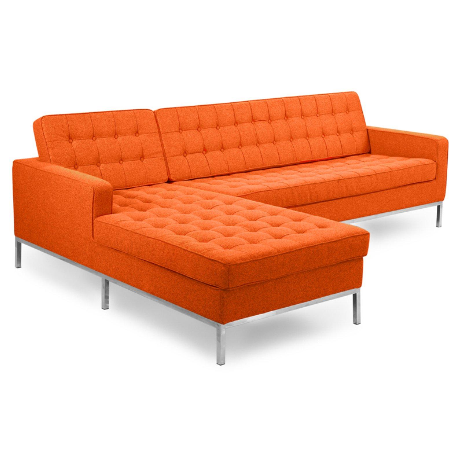 Kardiel Florence Knoll Left Facing Sectional Sofa With Chaise Cinnabar Sectional Sofa With Chaise Sectional Sofa Sectional