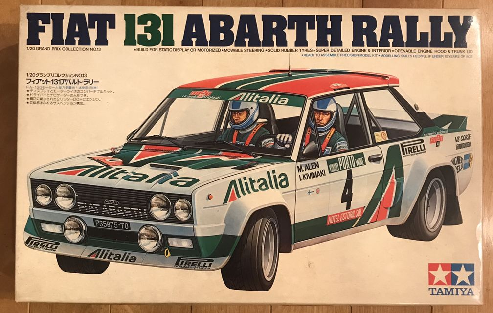 Details About Super Rare New Tamiya 1 20 Fiat 131 Abarth Rally F