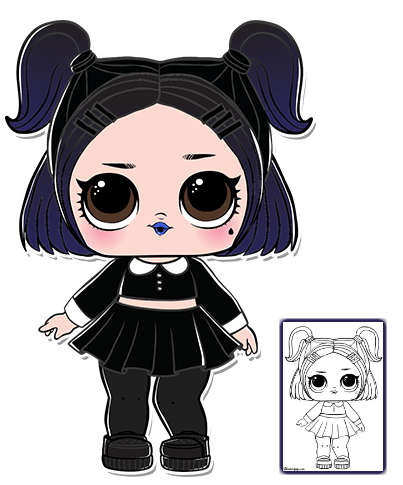 Lol Surprise Doll Coloring Pages Página 3 Colora A Sua Boneca De