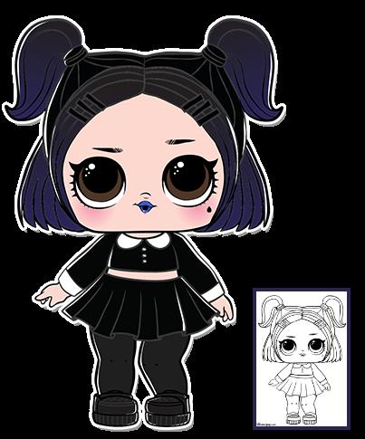 Click To Download Coloring Sheet Lol Dolls Cute Dolls Lol