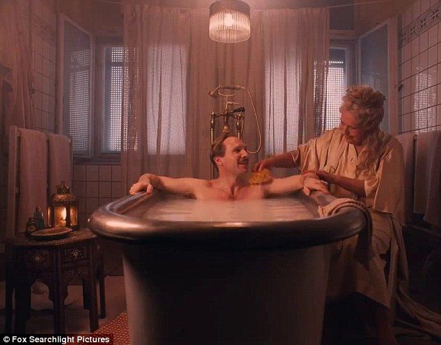Elderly ladies' man: In one scene Ralph receives a naked bubble bath from one of his grey haired loves, whom he describes as a 'dynamite in the sack'