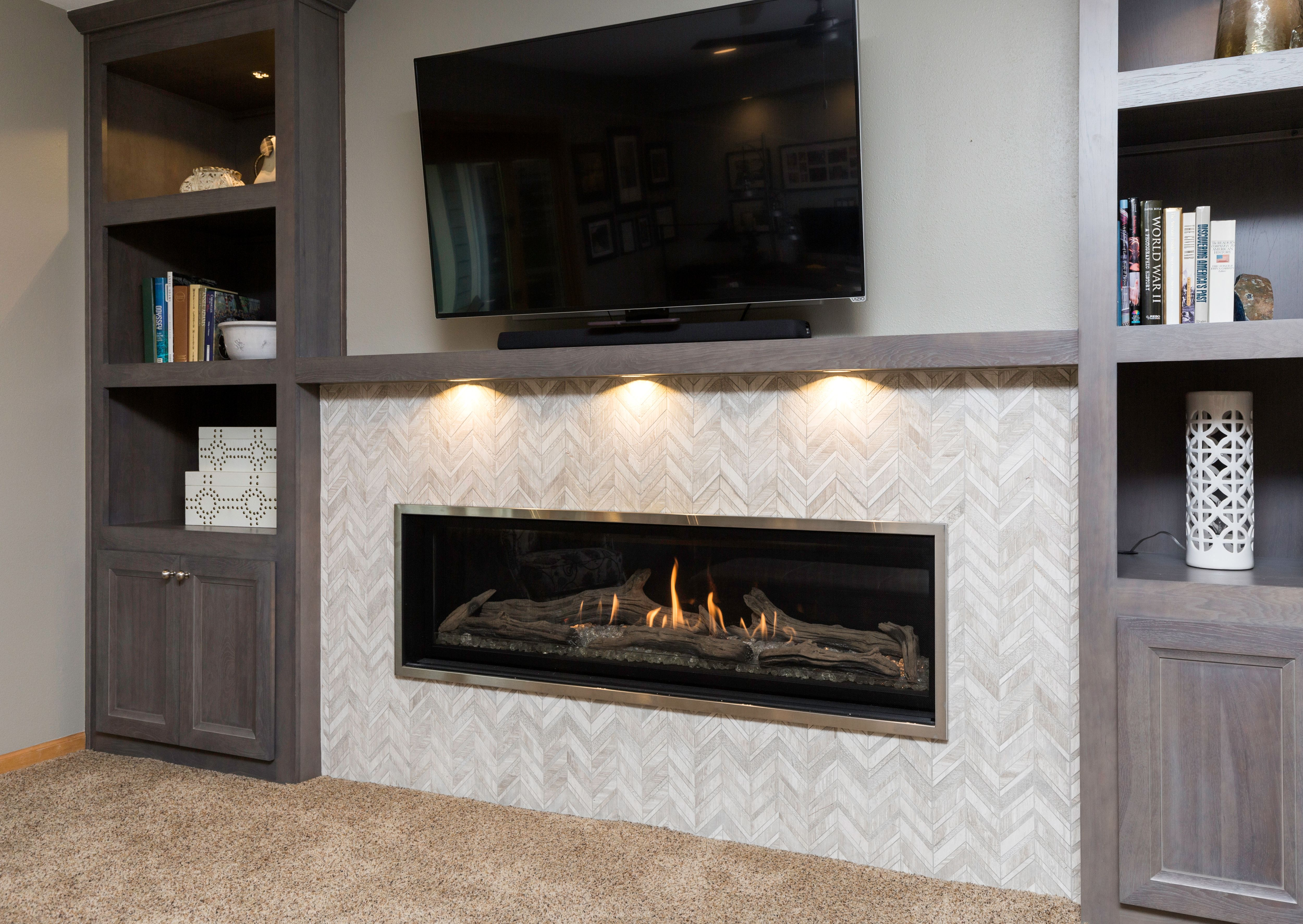 You Can Almost Feel The Warmth From This Rectangular Gas Fireplace