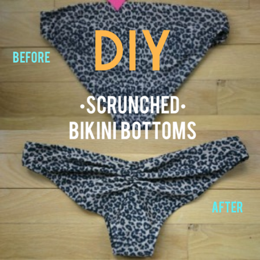 d172026035  DIY Cheeky Bikini - Recycle a Saggy