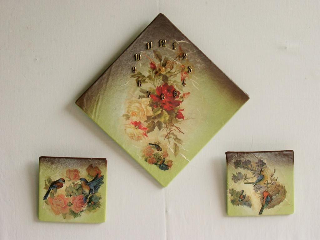 Zegar ścienny Ze Skóry Płynący Obraz Do Kuchni Rzeczy