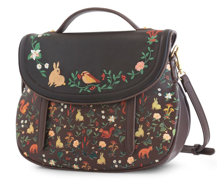 9ff457f56 Aliexpress.com : Buy Vintage embroidery Saddle Floral Flap Cover Bags  Leather…