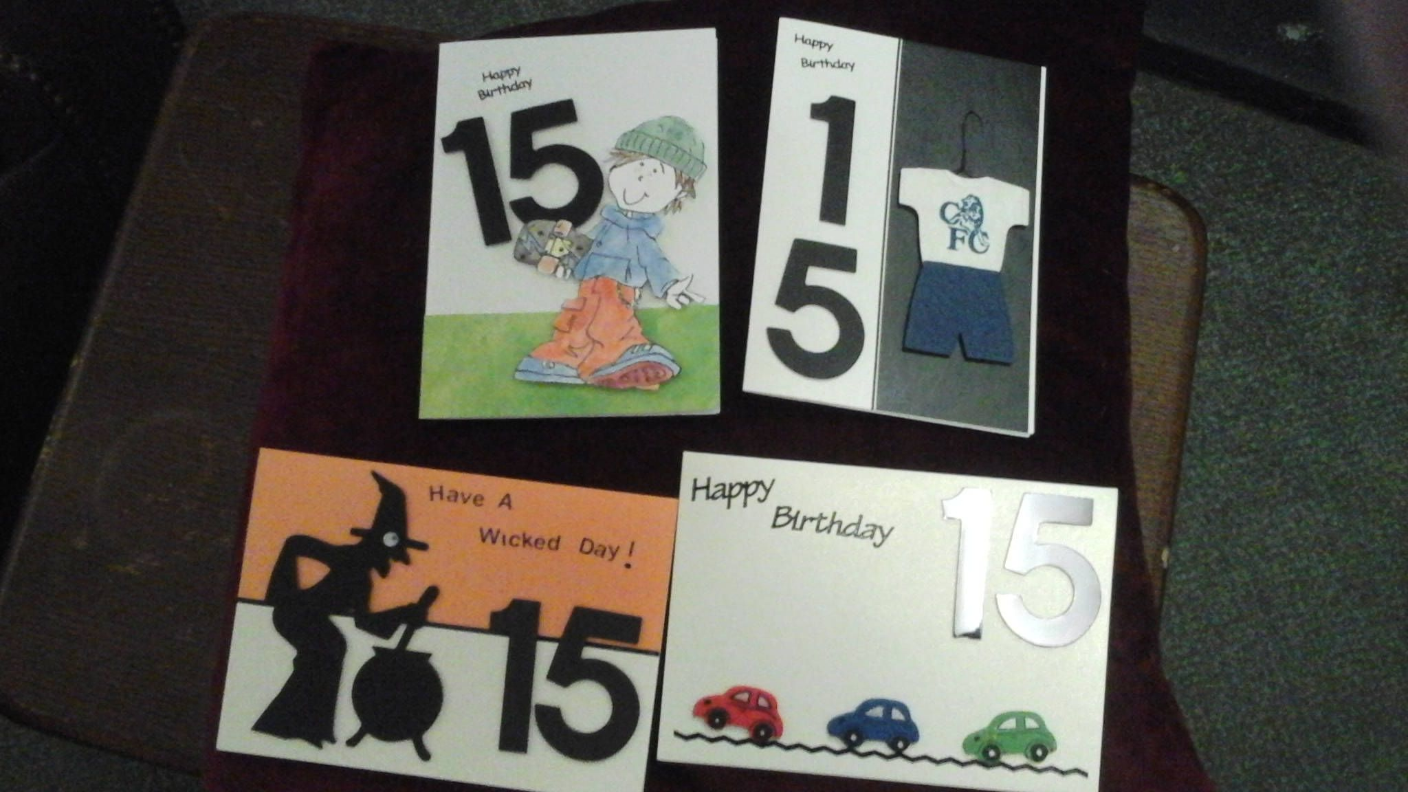 15 year old birthday cards by CrazyladysEmporium on Etsy