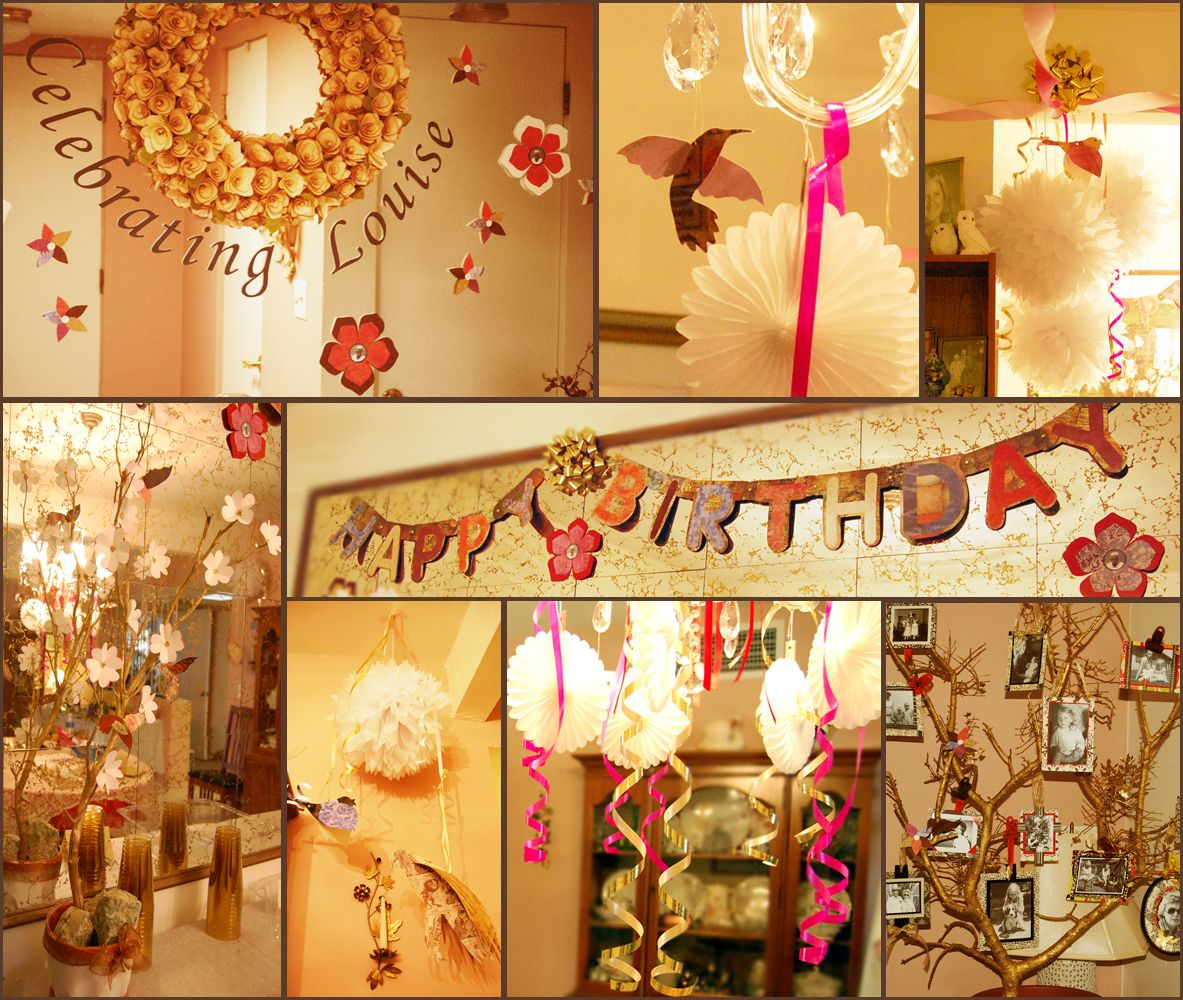 Images of some of the diy projects we made for my grandma for 90th birthday decoration