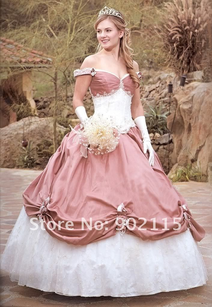 Romantic Style Off the Shoulder Custom Made Victorian Ball Gown ...