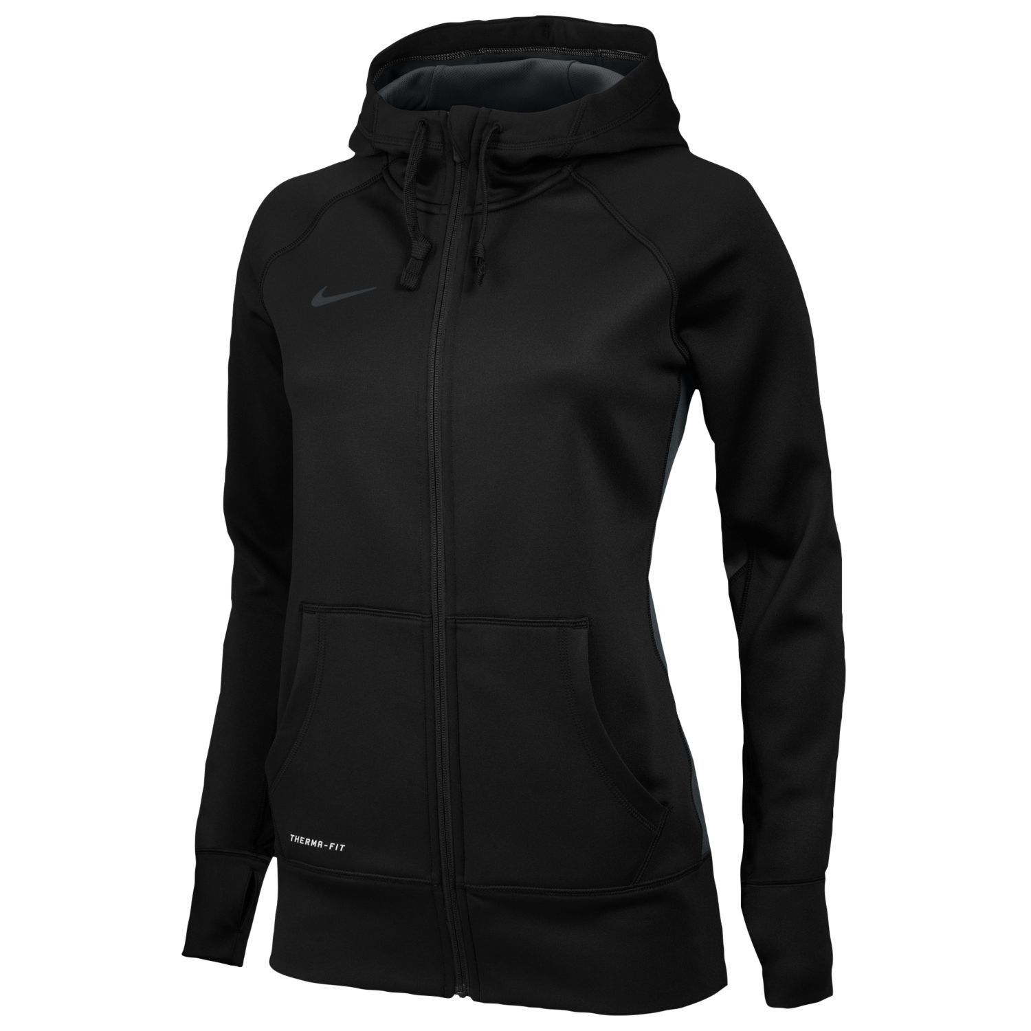 Nike KO Womens Full Zip Hoodie Swoosh Sweatshirt: - Therma ...