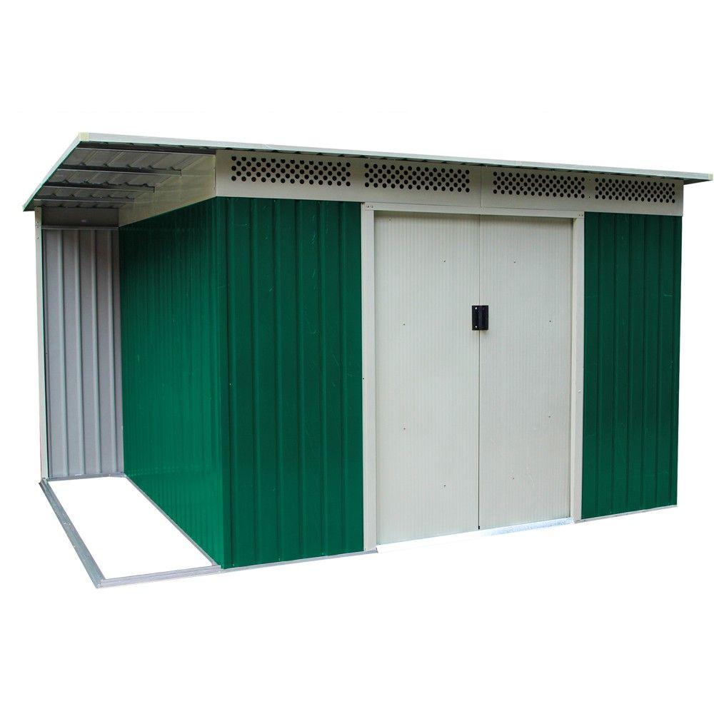 Box casetta giardino per esterno in lamiera zincata - Box da giardino ...