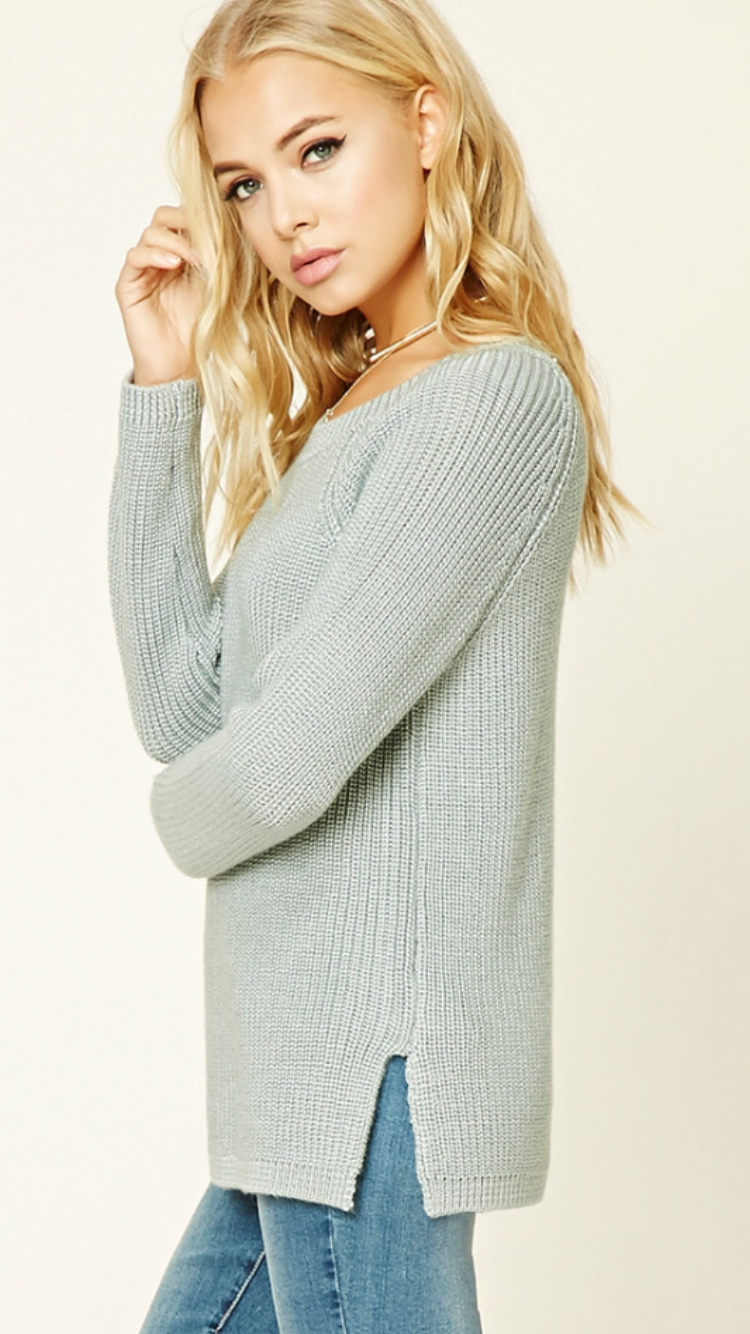 Forever 21 dusty blue sweater | Clothes/Fashion | Pinterest ...