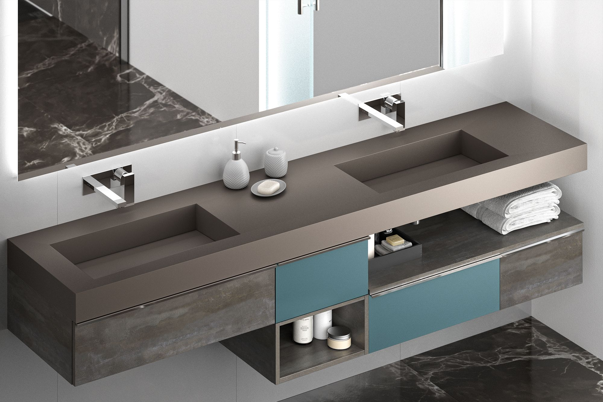 Plan Vasque Sur Mesure meuble de salle de bain cedam - extenso. gamme sur mesure