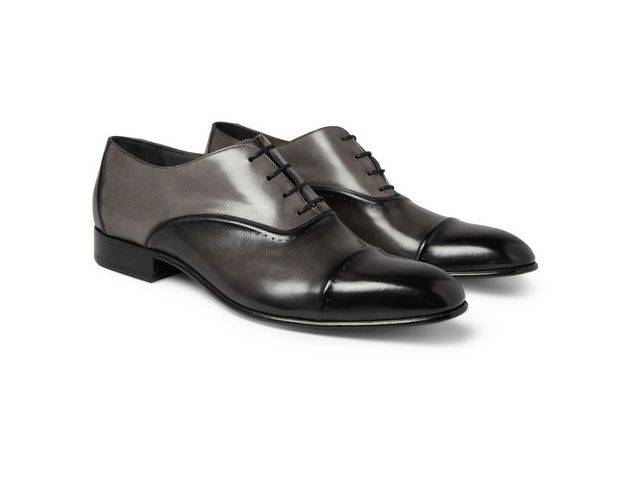 Lanvin Brushed-leather Oxford Shoes